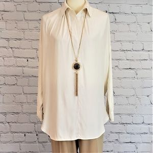 NWT Long REVERSIBLE Pendant Necklace with Tassel